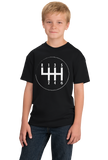 Youth Black 6 Speed Transition - Racer Manual Transmission Stick Shift T-shirt