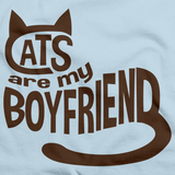 CATS ARE MY BOYFRIEND Light blue art preview