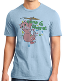 Standard Light Blue Hang In There, Kitten - Cheesey Cat Humor T-shirt