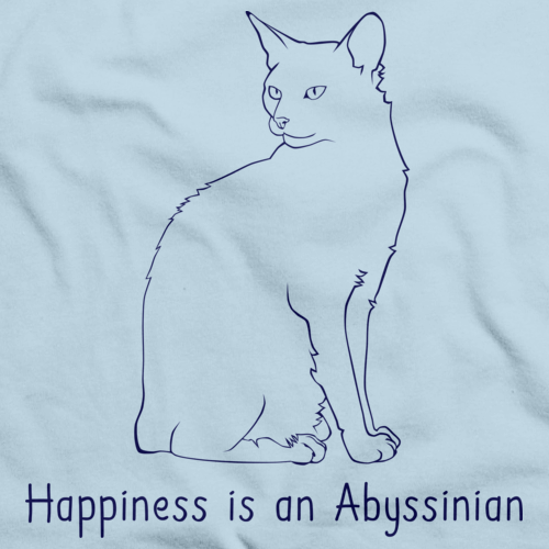 Happiness Is An Abyssinian Light blue Art Preview