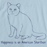 Happiness Is An American Short Hair Light blue Art Preview