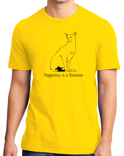 Standard Yellow Happiness Is A Balinese - Cat Lover Kitty Breed Gift Fancy T-shirt