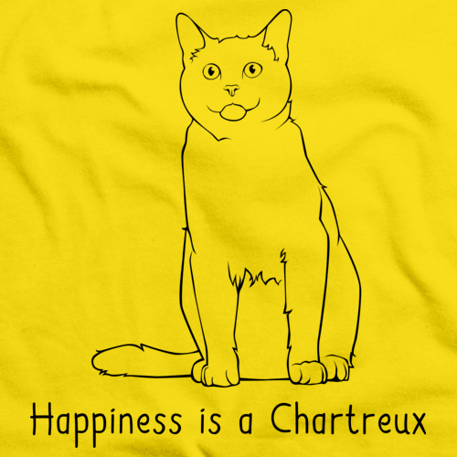 Happiness Is A Chartreux Yellow Art Preview
