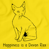 Happiness Is A Devon Rex Yellow Art Preview