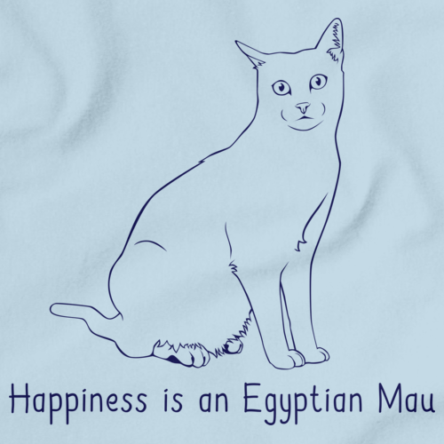 Happiness Is An Egyptian Mau Light blue Art Preview