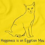 Happiness Is An Egyptian Mau Yellow Art Preview