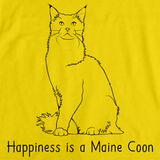 Happiness Is A Maine Coon Yellow Art Preview