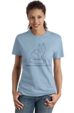 Ladies Light Blue Happiness Is A Norwegian Forest Cat - Cat Breed Lover Fancy T-shirt