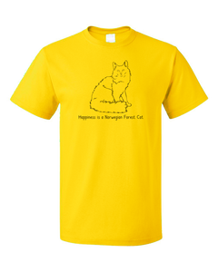 Standard Yellow Happiness Is A Norwegian Forest Cat - Cat Breed Lover Fancy T-shirt