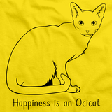 Happiness Is An Ocicat Yellow Art Preview