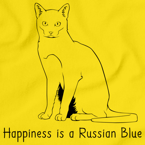 Happiness Is A Russian Blue Yellow Art Preview