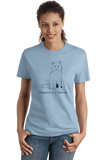Ladies Light Blue Happiness Is A Siberian - Cat Fancy Breed Kitty Lover Cute T-shirt