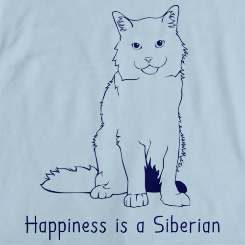 Happiness Is A Siberian Light blue Art Preview