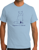 Standard Light Blue Happiness Is A Siberian - Cat Fancy Breed Kitty Lover Cute T-shirt
