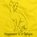 Happiness Is A Sphynx Yellow Art Preview