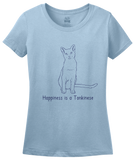 Ladies Light Blue Happiness Is A Tonkinese - Cat Fancy Breed Lover Cute Kitty T-shirt