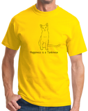 Standard Yellow Happiness Is A Tonkinese - Cat Fancy Breed Lover Cute Kitty T-shirt