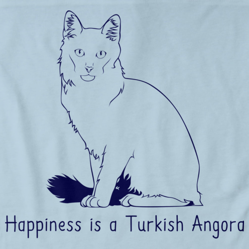 Happiness Is A Turkish Angora Light blue Art Preview