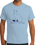 Standard Light Blue Happiness Is A Turkish Angora - Cat Fancy Breed Lover Cute T-shirt