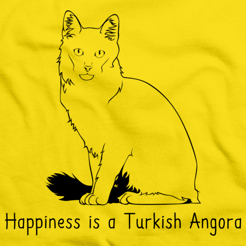 Happiness Is A Turkish Angora Yellow Art Preview
