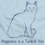 Happiness Is A Turkish Van  Light blue Art Preview