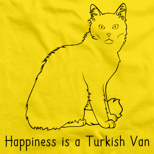 Happiness Is A Turkish Van  Yellow Art Preview