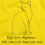 Boys, Girls, & Abyssinian = Kids Yellow Art Preview