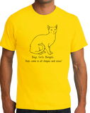 Standard Yellow Boys, Girls, & Bengals = Kids - Cat Lover Family Parent Pet T-shirt
