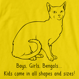 Boys, Girls, & Bengals = Kids Yellow Art Preview