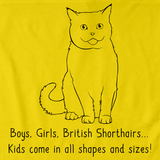 Boys, Girls, & British Shorthairs = Kids Yellow Art Preview