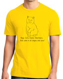 Standard Yellow Boys, Girls, & Exotic Shorthairs = Kids - Cat Lover Parent T-shirt