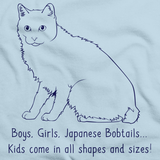 Boys, Girls, & Japanese Bobtails = Kids Light blue Art Preview