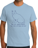 Standard Light Blue Boys, Girls, & Japanese Bobtails = Kids - Cat Lover Parent T-shirt