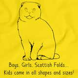 Boys, Girls, & Scottish Folds = Kids Yellow Art Preview