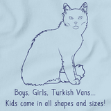 Boys, Girls, & Turkish Vans = Kids Light blue Art Preview