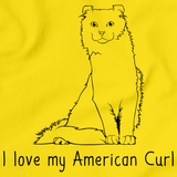 I Love My American Curl Yellow Art Preview