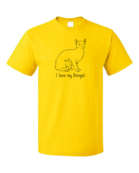 Standard Yellow I Love My Bengal - Cat Fancy Breed Lover Parent Cute Gift T-shirt