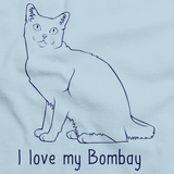 I Love My Bombay Light blue Art Preview