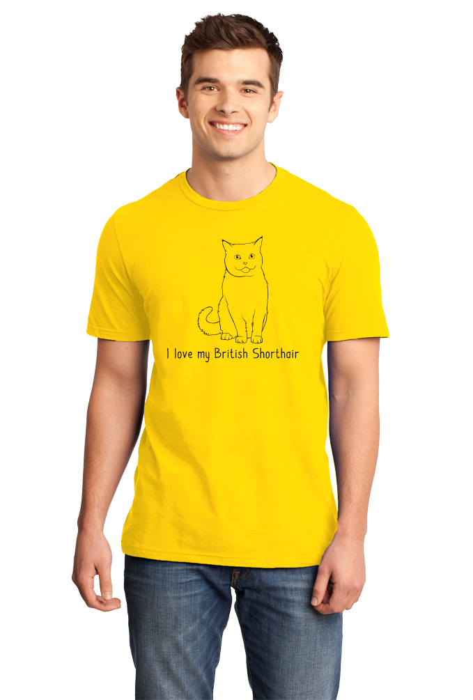 Standard Yellow I Love My British Shorthair - Cat Fancy Breed Lover Parent T-shirt