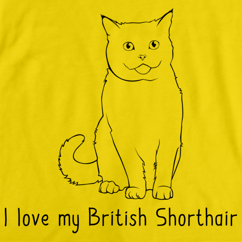 I Love My British Shorthair Yellow Art Preview