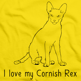 I Love My Cornish Rex Yellow Art Preview