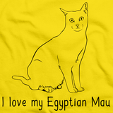 I Love My Egyptian Mau Yellow Art Preview