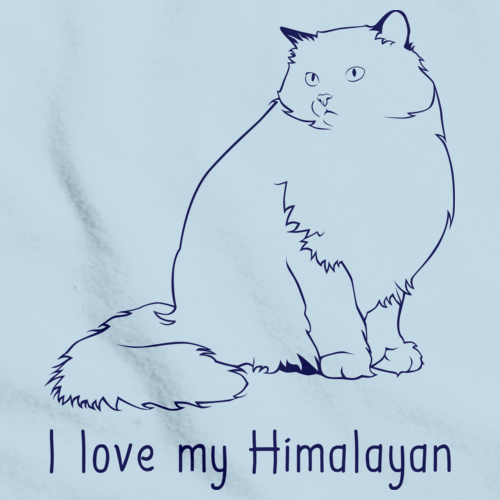 I Love My Himalayan  Light blue Art Preview