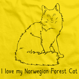 I Love My Norwegian Forest Cat Yellow Art Preview
