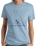 Ladies Light Blue I Love My Russian Blue - Cat Fancy Breed Lover Parent Owner T-shirt