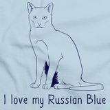 I Love My Russian Blue Light blue Art Preview