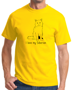 Standard Yellow I Love My Siberian - Cat Fancy Breed Lover Parent Owner Gift T-shirt