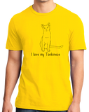 Standard Yellow I Love My Tonkinese - Cat Fancy Breed Lover Parent Owner T-shirt