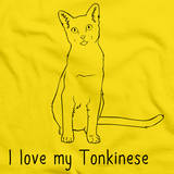 I Love My Tonkinese  Yellow Art Preview