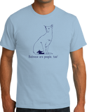 Standard Light Blue Balinese Are People Too! - Cat Breed Lover Parent Owner Gift T-shirt